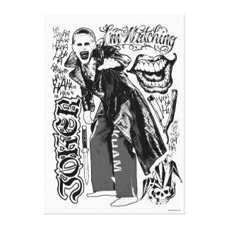 Suicide Squad   Joker Typography Photo Canvas Print