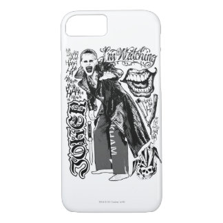 Suicide Squad | Joker Typography Photo iPhone 8/7 Case
