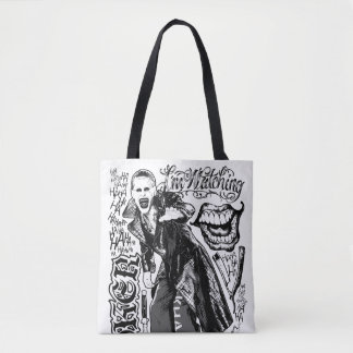 Suicide Squad | Joker Typography Photo Tote Bag