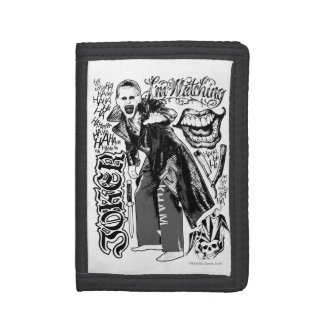 Suicide Squad   Joker Typography Photo Trifold Wallet