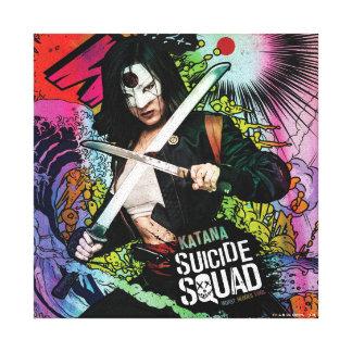 Suicide Squad   Katana Character Graffiti Canvas Print