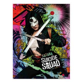 Suicide Squad | Katana Character Graffiti Postcard