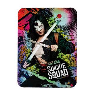 Suicide Squad   Katana Character Graffiti Rectangular Photo Magnet