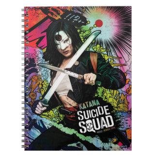 Suicide Squad | Katana Character Graffiti Spiral Notebook