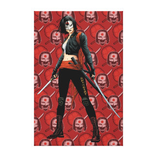 Suicide Squad   Katana Comic Book Art Canvas Print
