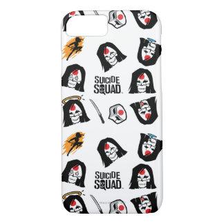 Suicide Squad   Katana Emoji Pattern iPhone 8/7 Case
