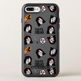 Suicide Squad | Katana Emoji Pattern OtterBox Symmetry iPhone 8 Plus/7 Plus Case
