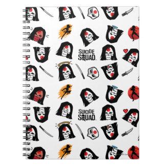 Suicide Squad | Katana Emoji Pattern Spiral Notebook