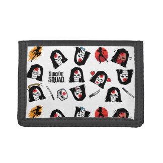 Suicide Squad | Katana Emoji Pattern Tri-fold Wallet