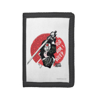 """Suicide Squad   Katana """"For Him I Weep"""" Trifold Wallet"""