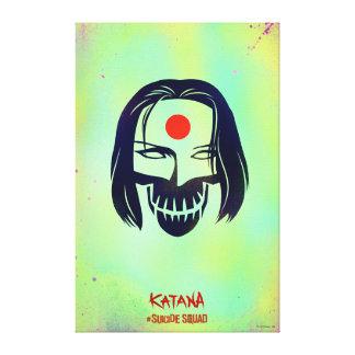 Suicide Squad   Katana Head Icon Canvas Print