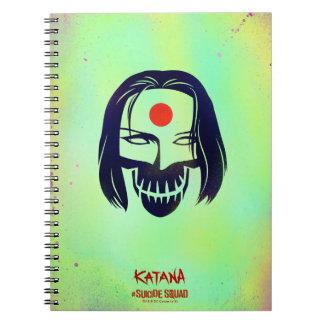 Suicide Squad | Katana Head Icon Notebook