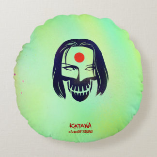 Suicide Squad | Katana Head Icon Round Cushion