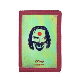 Suicide Squad | Katana Head Icon Tri-fold Wallet