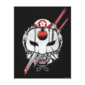 Suicide Squad   Katana Mask & Swords Tattoo Art Canvas Print