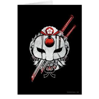 Suicide Squad | Katana Mask & Swords Tattoo Art Card