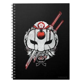 Suicide Squad | Katana Mask & Swords Tattoo Art Notebooks