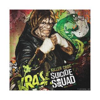 Suicide Squad | Killer Croc Character Graffiti Canvas Print