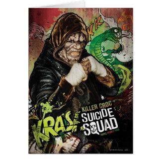 Suicide Squad | Killer Croc Character Graffiti Card