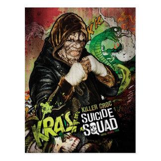 Suicide Squad | Killer Croc Character Graffiti Postcard