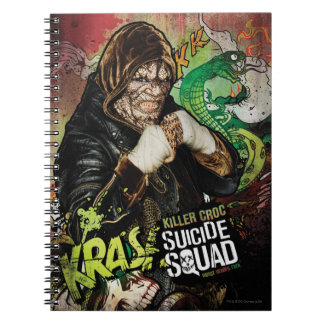 Suicide Squad | Killer Croc Character Graffiti Spiral Notebook