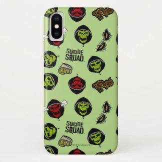 Suicide Squad | Killer Croc Emoji Pattern iPhone X Case