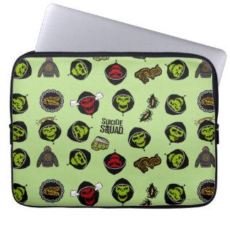 Suicide Squad | Killer Croc Emoji Pattern Laptop Sleeve