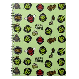Suicide Squad | Killer Croc Emoji Pattern Spiral Notebook
