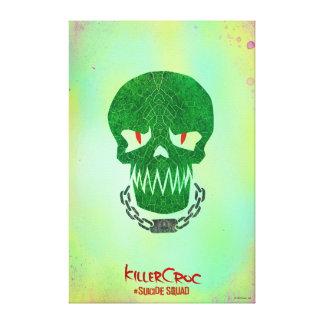 Suicide Squad | Killer Croc Head Icon Canvas Print