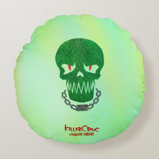 Suicide Squad | Killer Croc Head Icon Round Cushion