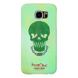 Suicide Squad | Killer Croc Head Icon Samsung Galaxy S6 Cases