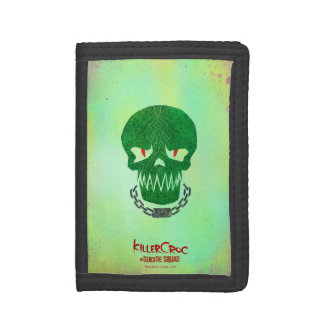 Suicide Squad | Killer Croc Head Icon Trifold Wallets