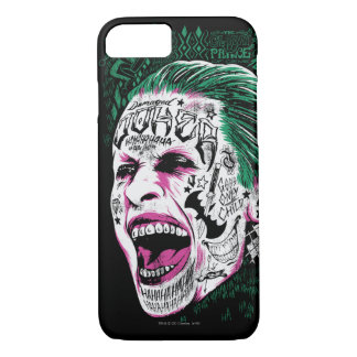 Suicide Squad | Laughing Joker Head Sketch iPhone 8/7 Case
