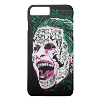 Suicide Squad | Laughing Joker Head Sketch iPhone 8 Plus/7 Plus Case