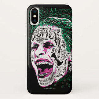 Suicide Squad | Laughing Joker Head Sketch iPhone X Case