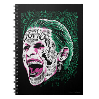 Suicide Squad | Laughing Joker Head Sketch Notebooks