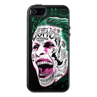 Suicide Squad | Laughing Joker Head Sketch OtterBox iPhone 5/5s/SE Case