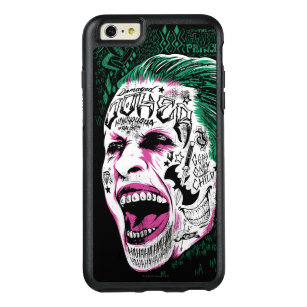 Suicide Squad | Laughing Joker Head Sketch OtterBox iPhone 6/6s Plus Case