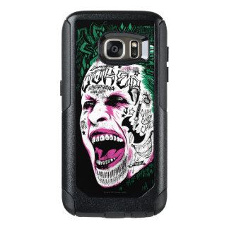 Suicide Squad | Laughing Joker Head Sketch OtterBox Samsung Galaxy S7 Case
