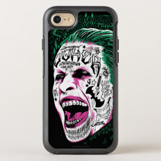 Suicide Squad | Laughing Joker Head Sketch OtterBox Symmetry iPhone 8/7 Case
