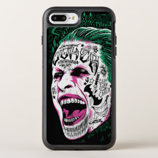 Suicide Squad | Laughing Joker Head Sketch OtterBox Symmetry iPhone 8 Plus/7 Plus Case