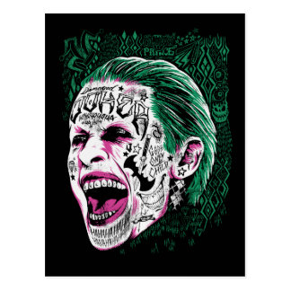 Suicide Squad | Laughing Joker Head Sketch Postcard