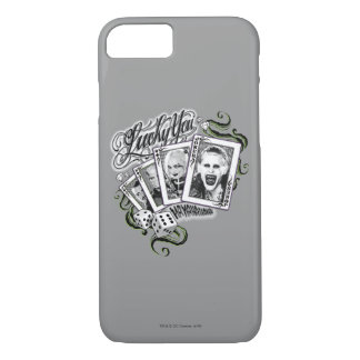 "Suicide Squad | ""Lucky You"" Playing Cards iPhone 8/7 Case"