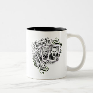 "Suicide Squad | ""Lucky You"" Playing Cards Two-Tone Coffee Mug"