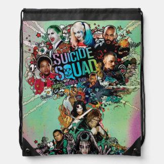 Suicide Squad | Mushroom Cloud Explosion Drawstring Bag