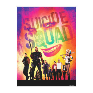 Suicide Squad   Orange Joker & Squad Movie Poster Canvas Print