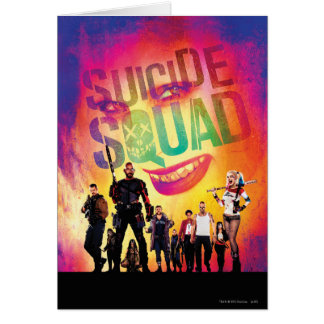 Suicide Squad | Orange Joker & Squad Movie Poster Card