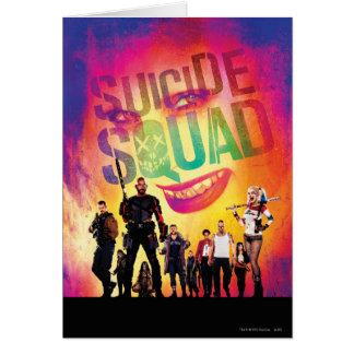 Suicide Squad | Orange Joker & Squad Movie Poster Card
