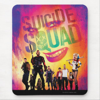 Suicide Squad | Orange Joker & Squad Movie Poster Mouse Mat