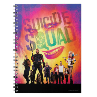 Suicide Squad | Orange Joker & Squad Movie Poster Spiral Notebook